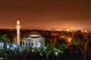 Ночной пейзаж с видом на мечеть